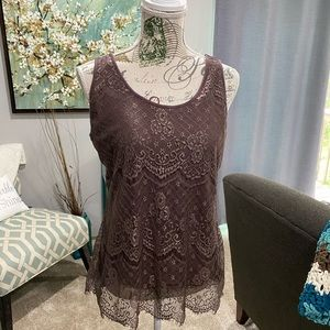 Maurices Sleeveless Lace Tank